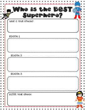Opinion Writing- Who is the BEST Superhero?