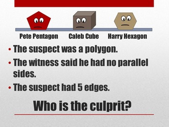 Who is the Culprit? A 2D, 3D, Perimeter, and Area Interactive Review