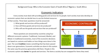Document Analysis:Who is the Economic Giant of Africa? South Africa vs. Nigeria