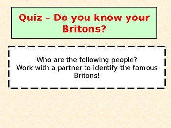 Who is the Greatest Briton Quiz