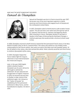 Who is the Greatest Explorer of Canada?