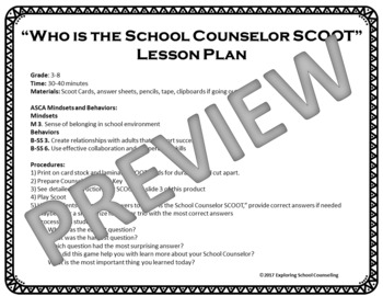 Who is the School Counselor SCOOT