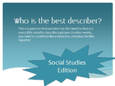 Who is the best describer? Get ELLs ready for NYSESLAT (Social Studies Edition)