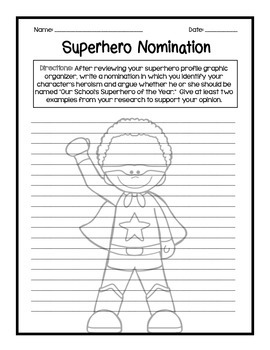 Who is your hero? Create your own superhero! Hero unit! CCSS Aligned!