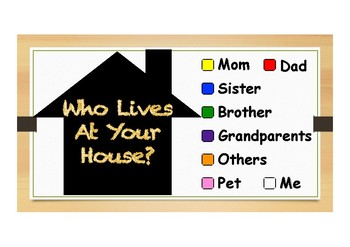 Who Lives At My House Activity Set By Green Apple Tpt
