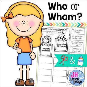 Who or Whom? Cut and Paste Sorting Activity