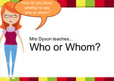 Who or Whom - that is the question!