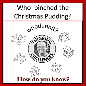 Christmas Activity|Who pinched the Christmas pudding? | Secret Code Mystery