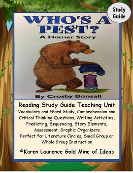 Who's A Pest? A Homer Story by Crosby Bonsall Reading Novel Study Guide