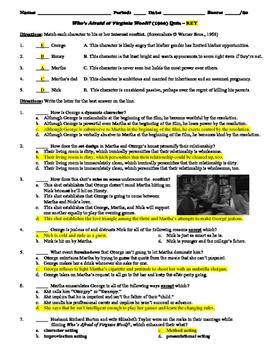 Who's Afraid of Virginia Woolf? Film (1966) 20-Question Multiple Choice Quiz