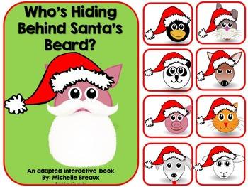 Who's Behind Santa's Beard?- Adapted Christmas Book {Autis