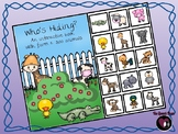 Who's Hiding? An interactive book with farm & zoo animals