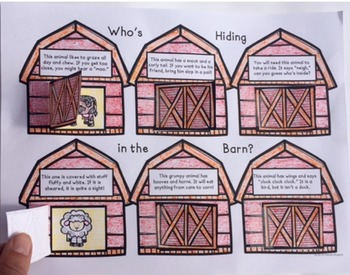Who's Hiding in the Barn? FREEBIE Min-Prep Activity