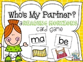 Who's My Partner?  A Reading Horizons Card Game