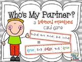 Who's My Partner? - a Balanced Equations Card Game