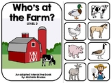 Who's On The Farm Farm Animals Adapted Book (SPED, Autism)