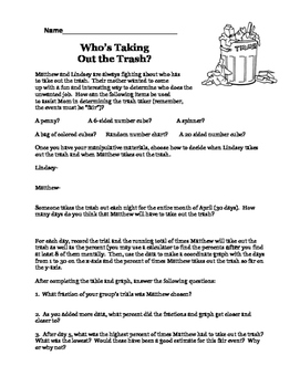 Who's Taking Out the Trash?  An Experimental Probability Activity