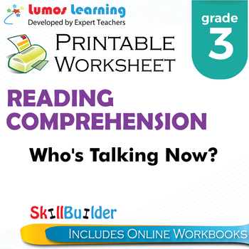 Who's Talking Now? Printable Worksheet, Grade 3