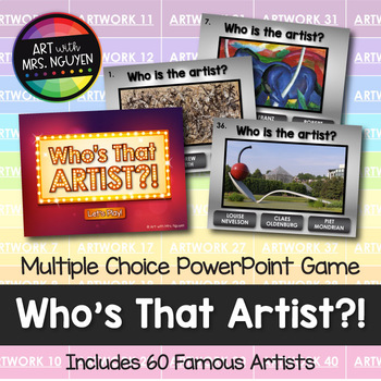 who s that artist interactive powerpoint art game by art with mrs