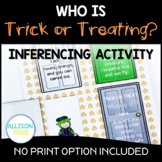 Inferencing Activity Speech Therapy Halloween   Who's Trick or Treating?