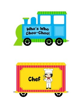 Who's Who Choo-Choo for Who Questions