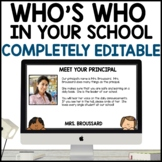 Who's Who | First Day PPT | Back to School | All Text Editable