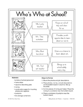 Who's Who at School? Bulletin Board