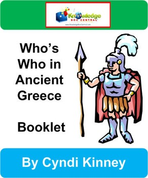 Who's Who in Ancient Greece Booklet
