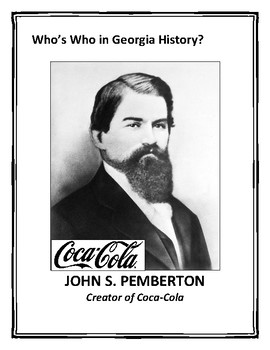 Who's Who in Georgia History? - 58 Photos and Descriptions