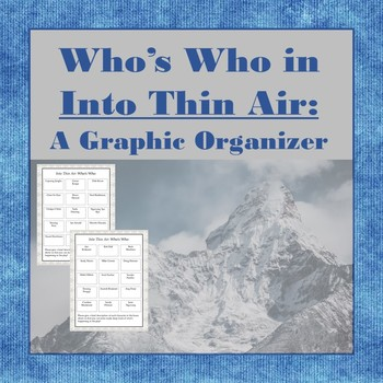 Who's Who in Into Thin Air