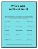 Who's Who in World War II