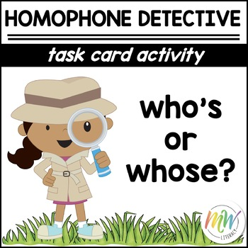 Who's & Whose: Homophone Task Cards
