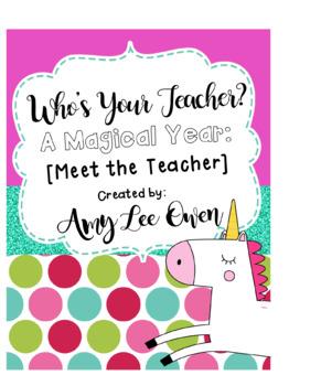 Who's Your Teacher? (A Magical Year): {UNICORNS}
