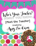 Who's Your Teacher? (Donut You Know?) [DONUTS]