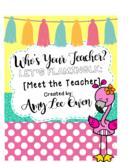 Who's Your Teacher? (Let's Flamingle!) {FLAMINGOS}