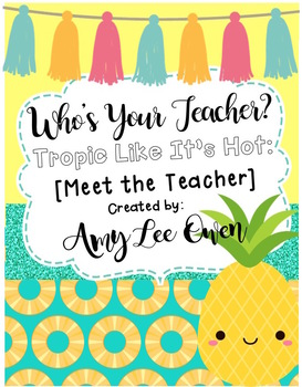 Who's Your Teacher? (Tropic Like It's Hot): {PINEAPPLES}