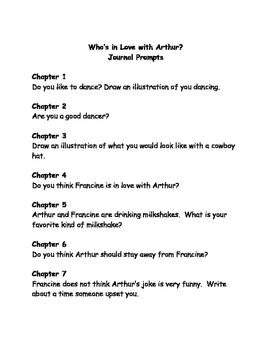 Who's in love with Arthur? comprehension questions