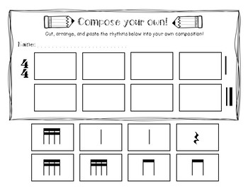 Dinah - Worksheets to Practice Sixteenth Notes