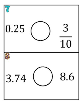 Who's is Bigger Comparing Rational Numbers Game
