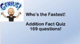 Who's the fastest? Addition fact quiz and key