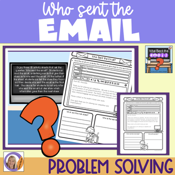 Who sent the email?- Inference worksheets