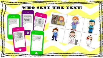 Who Sent the IPhone Text? Inference Activity