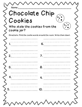Who stole the cookies? Short I word find