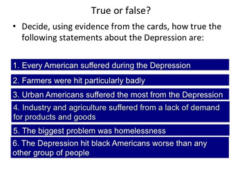 Who suffered the most in the Great Depression?
