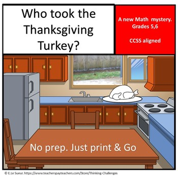 Who took the Thanksgiving Turkey? : A  Thanksgiving Secret Code Mystery
