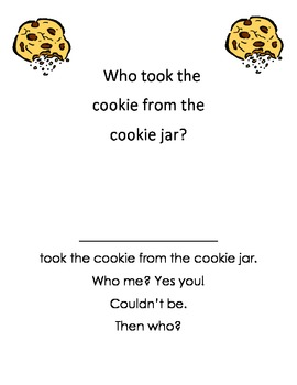 Who took the cookie from the cookie jar?