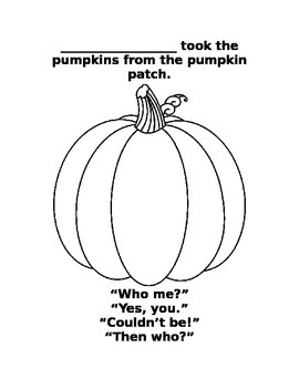 Who took the pumpkins from the pumpkin patch?