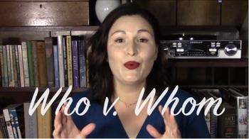 Who v. Whom - YouTube Minilesson + Worksheet