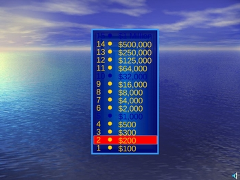 Who wants to be a Peso Millionaire? Spanish vocabulary