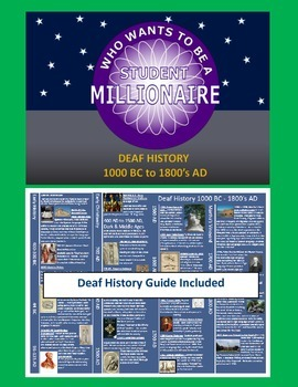 Who wants to be a student millionaire: Deaf History 1000 BC - 1800's